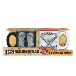 THE WALKING DEAD - Set 2 Mini-Mugs - Daryl Vs Negan 164589  Walking Dead