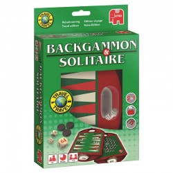 Backgammon en Solitaire Travel 8710126195086 jumbo speelgoed- en feestartikelen