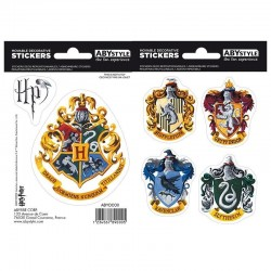 HARRY POTTER - Stickers - 16x11cm / 2 planches - Hogwarts Houses