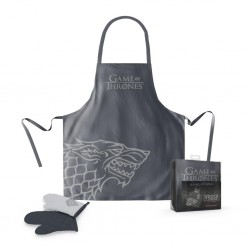GAME OF THRONES - Apron and Oven Mitt - Stark (PLASTIC BOX) 163965  Keuken Schorten