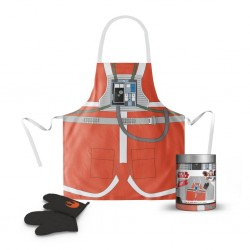 STAR WARS - Apron and Oven Mitt - Luke Pilot (GLASS POT)