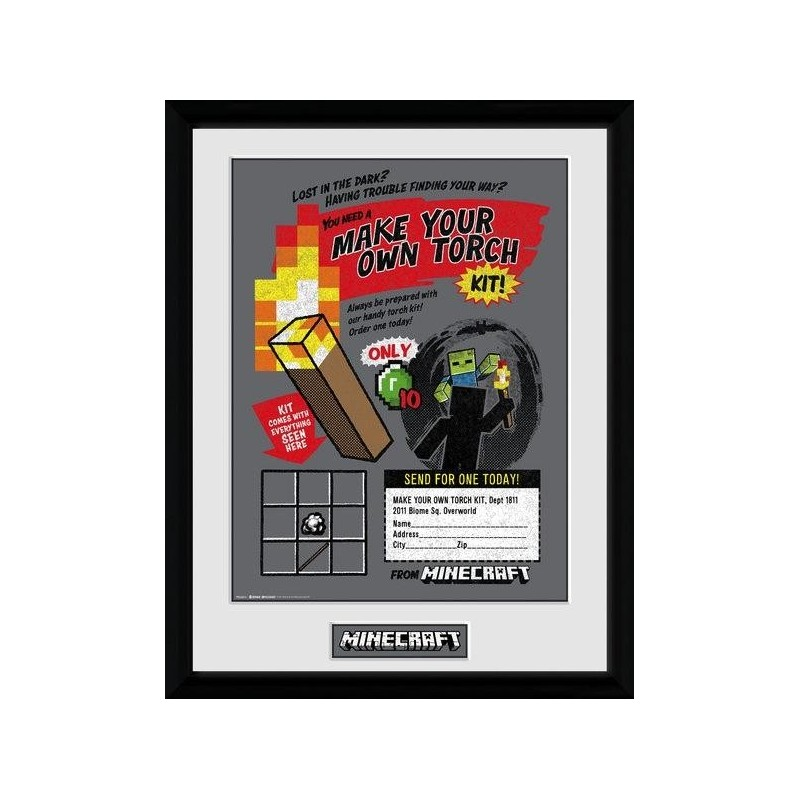 MINECRAFT - Collector Print 30X40 - Make you Own Torch 163923 Posters