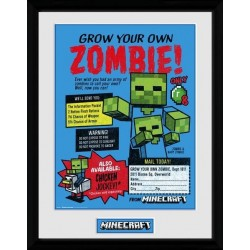 MINECRAFT - Collector Print 30X40 - Grow Your Own Zombie 163920  Collector Print Canvas