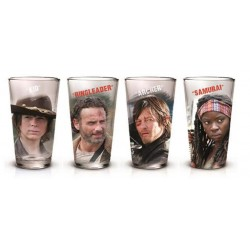 WALKING DEAD - 4 Pint Glass Pack - Characters
