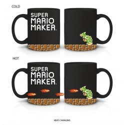 NINTENDO - Heat Change Coffee Mug 600ml Super Mario Maker in Box 163521  Drinkbekers - Mugs