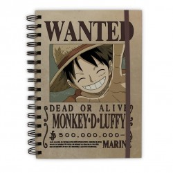 ONE PIECE - Notebook A5 - Wanted Luffy 168899  Notitie Boeken