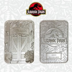 JURASSIC PARK - Entrance Gates - Silver Plated Collector Ticket 194678  Allerlei