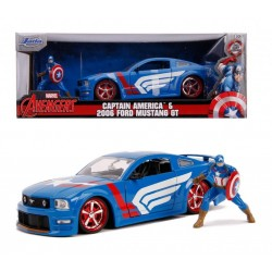 MARVEL - Captain America Ford Mustang GT - 1:24 184376  Miniatuur Auto's