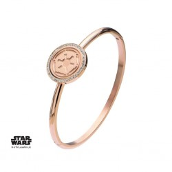 STAR WARS - Rose Gold PVD Plated Empire Symbol with CZ Bangle Armband