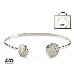 STAR WARS - Dames roestvrij staal Stormtrooper Cuff Bangle Armband