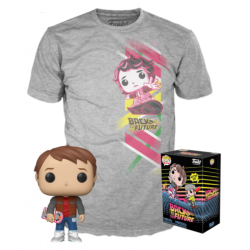 BTTF - POP N° 964 - Marty w/Hoverboard S.E. + T-Shirt (L) 182540  Allerlei