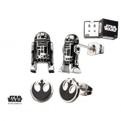 STAR WARS - 3D R2D2 and Rebel Alliance Symbol Stud Earring Set 163419  Oorringen