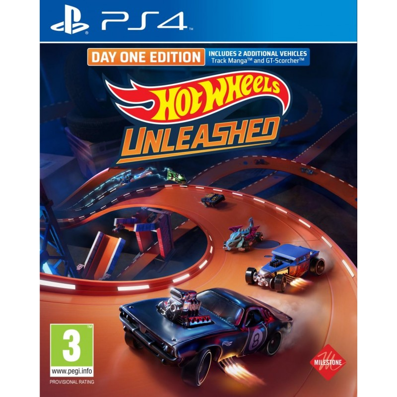 Hot Wheels Unleashed Day One Edition - Playstation 4  195536  Playstation 4