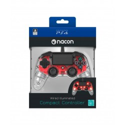 NACON WIRED OFFICIAL CONTROLLER CLEAR RED PS4