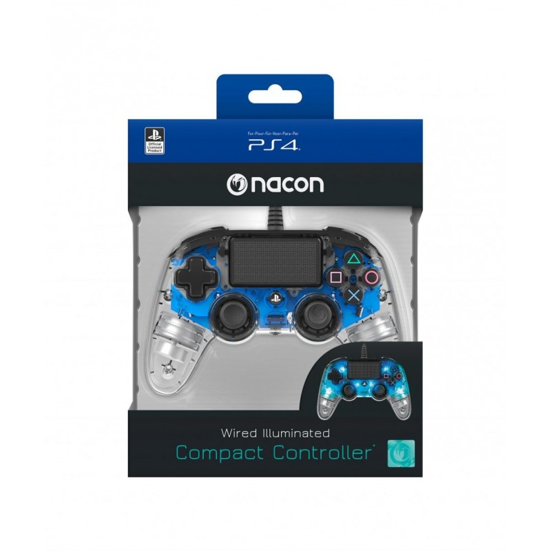 NACON WIRED OFFICIAL CONTROLLER CLEAR BLUE PS4 163271 PS4 Controllers