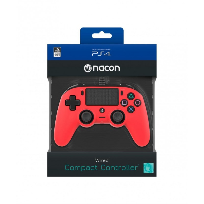 NACON WIRED OFFICIAL CONTROLLER RED PS4 163269 PS4 Controllers
