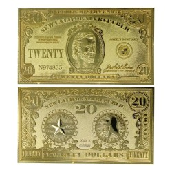 FALLOUT NEW VEGAS - NCR 20$ - 24k Gold Plated Ticket Collector