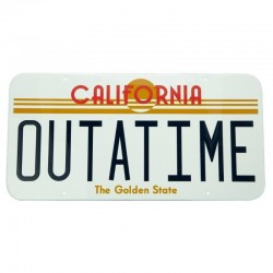 BACK TO THE FUTURE - Outatime - Metal Plate '28x38cm'