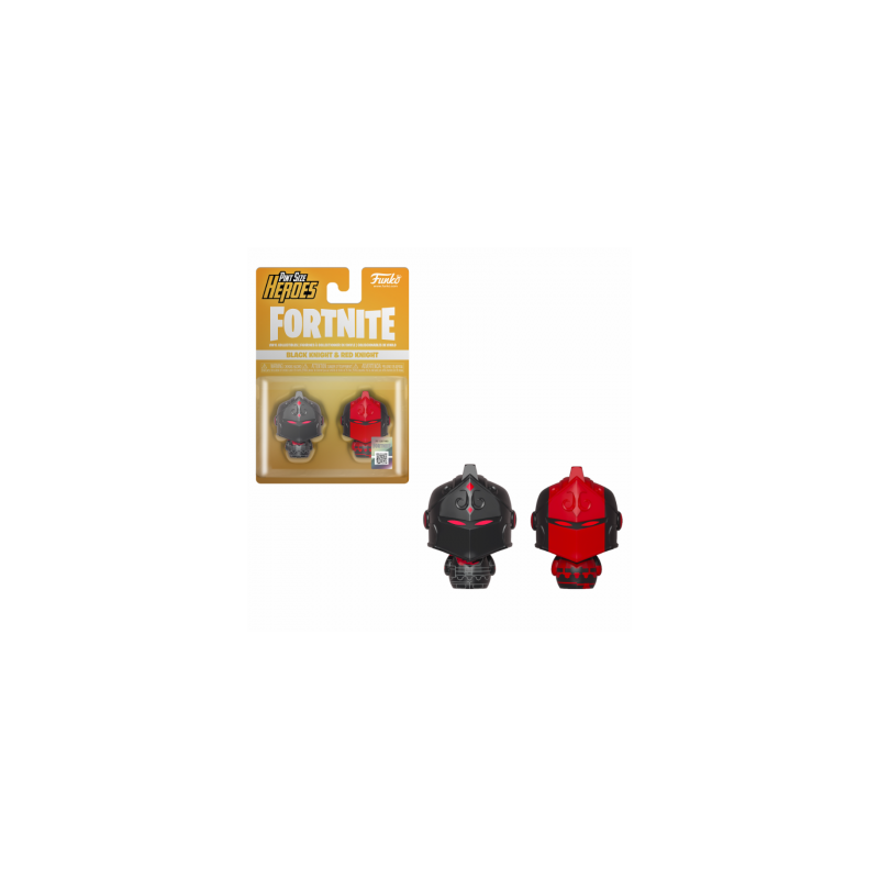 FORTNITE - 2 Pint Size Heroes Figures - Black & Red Knight - 6cm 170634  Figurines