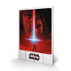 STAR WARS 8 The Last Jedi - Wood Print 40X59 - Teaser 162234  Frames