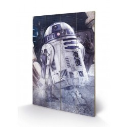 STAR WARS 8 The Last Jedi - Wood Print 40X59 - R2-D2