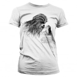 STAR WARS 8 The Last Jedi - T-Shirt Chewbacca with Porg - GIRLY (XL) 162230  T-Shirts