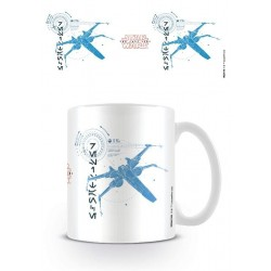 STAR WARS 8 The Last Jedi - Mug - 315 ml - X-Wing 162206  Drinkbekers - Mugs