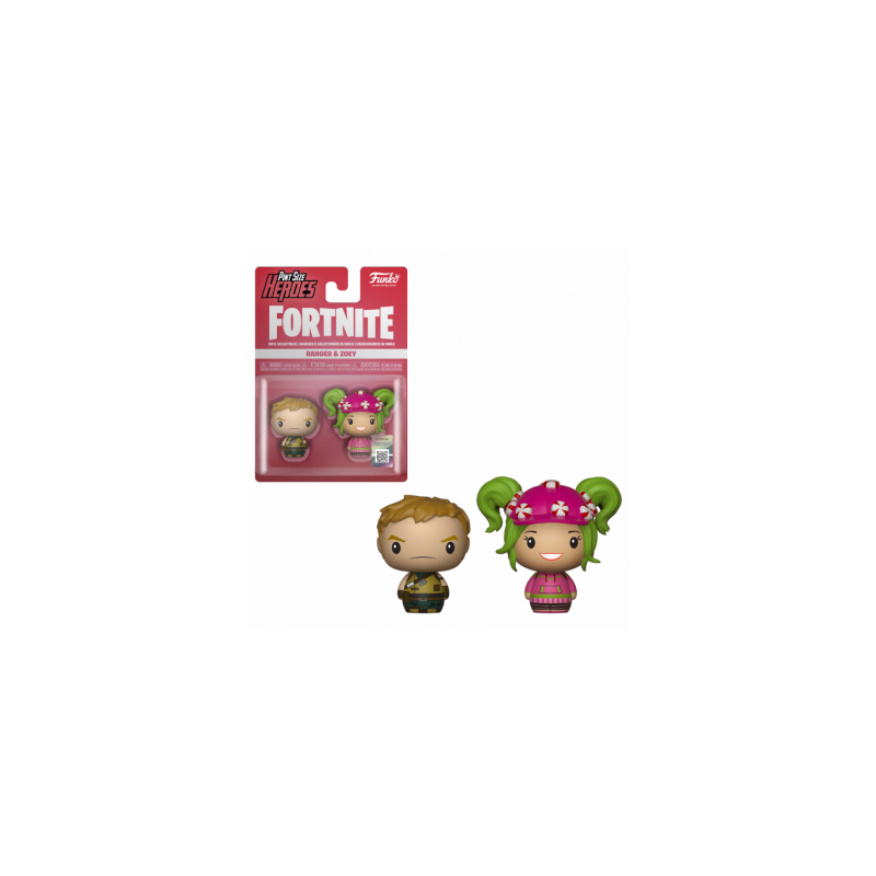 FORTNITE - 2 Pint Size Heroes Figures - Ranger & Zoey - 6cm 170630  Fortnite