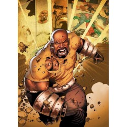 MARVEL ALL NEW - Magnetische Metalen Poster 15x10 - Luke Cage (S)