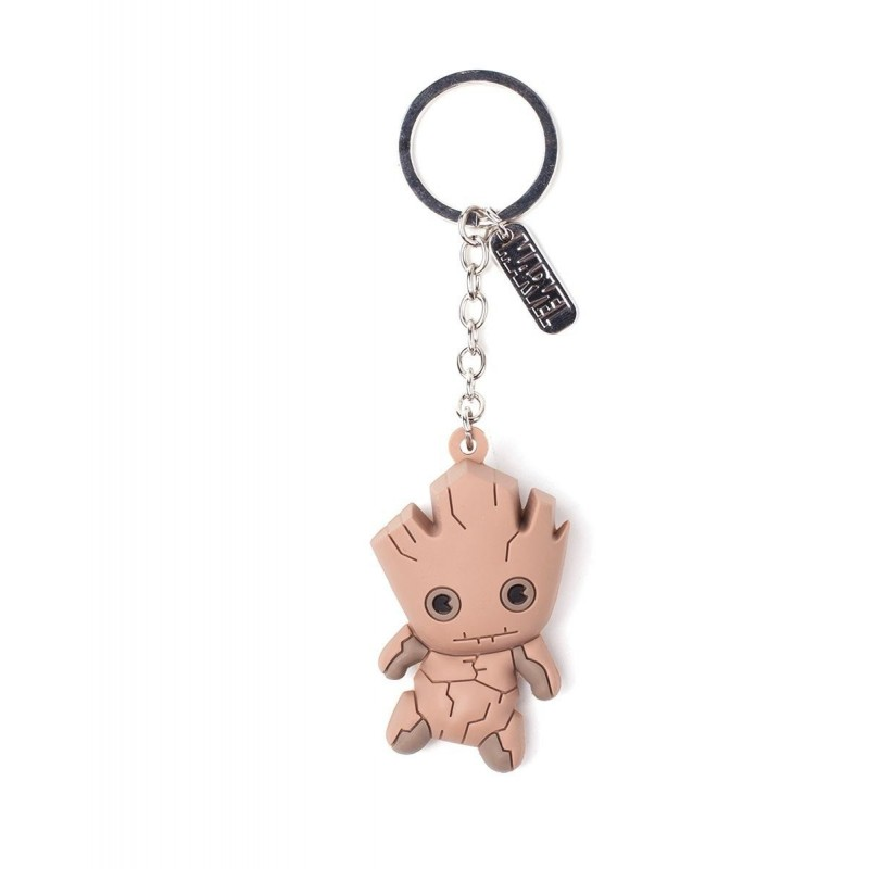 GUARDIANS OF THE GALAXY - Rubber 3D Keychain - Groot 162024 Sleutelhangers