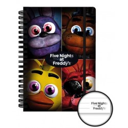 FIVE NIGHTS AT FREDDY'S - Notebook A5 - Quad 161981  Notitie Boeken