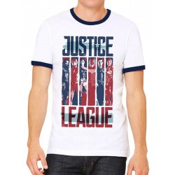 JUSTICE LEAGUE MOVIE - T-Shirt Strips (XXL) 161976  T-Shirts Justice League
