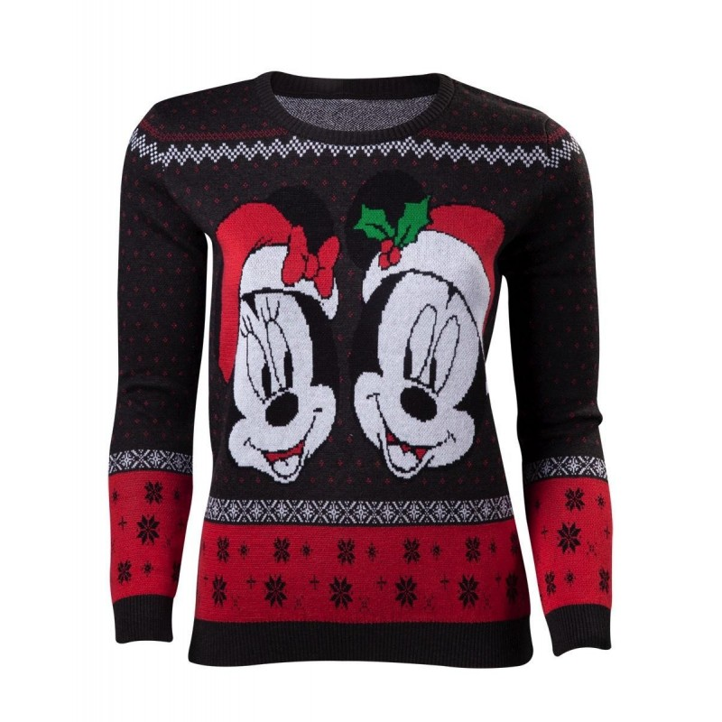 DISNEY - Women's Mickey & Minnie Merry Christmas Sweater (S) 170607  Kerst Kledij