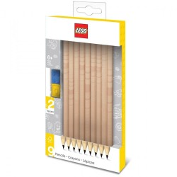 LEGO - Graphite Pencils With Toppers - 9 pcs