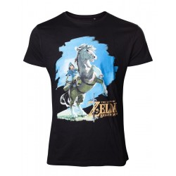 ZELDA BREATH OF THE WILD- T-Shirt Link on his Horse (XL) 161512  T-Shirts