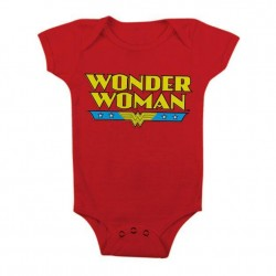WONDER WOMAN - Baby Body Classic Logo - Red (6 Month) 161365  Baby