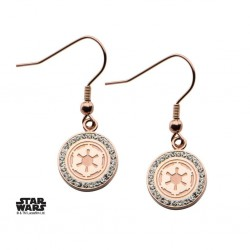STAR WARS - Stainless Steel Gold P Empire Symbol Hook Dangle Earrings 161339  Oorringen