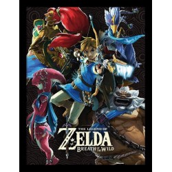 ZELDA BREATH OF THE WILD - Collector Print HQ 32X42 - Divine Beasts 160970  Posters