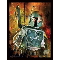 STAR WARS - Collector Print HQ 32X42 - Boba Fett Painted 160922  Posters