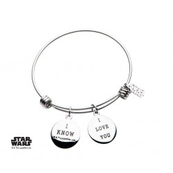 STAR WARS - Dames roestvrij staal Han Solo & Princess Armband