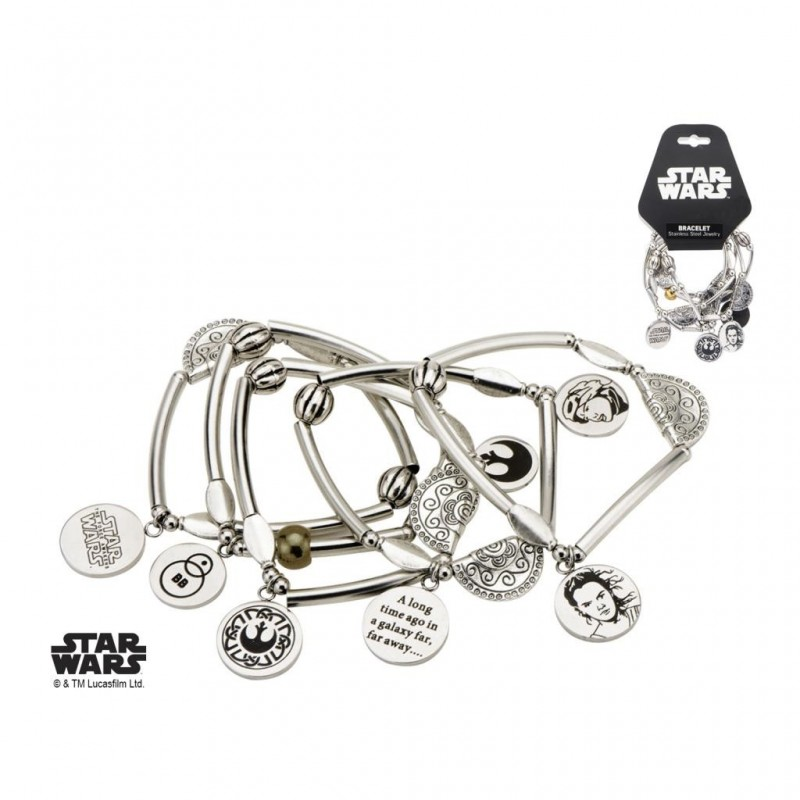 STAR WARS - Dames roestvrij staal Rey Stretchable Armband