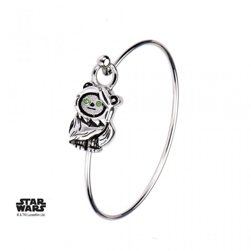 STAR WARS - Dames roestvrij staal 3D Ewok Bangle Armband