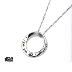 STAR WARS - Roestvrij stale I KNOW I LOVE YOU Mobius Halsketting Pendant