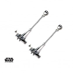 STAR WARS - Stainless Steel X-Wing Dangle Earrings