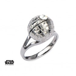 STAR WARS - Women's Stainless Steel 3D Death Star Ring - Size 6 160896  Ringen