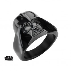 STAR WARS - Men's Stainless Steel Black 3D Darth Vader Ring - Size 12 160892  Ringen