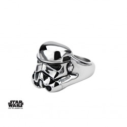 STAR WARS - Men's Stainless Steel 3D Stormtrooper Ring - Size 12 160889  Ringen