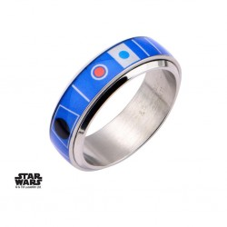 STAR WARS - Men's Stainless Steel R2D2 Spinner Ring - Size 12 160886  Ringen