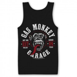 GAS MONKEY GARAGE - Men Tank Top Round Seal (L) 160818  Top Tank Shirts