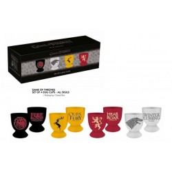 GAME OF THRONES - Egg Cups Set of 4 - All Sigils